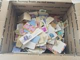 Box of Worldwide Stamps