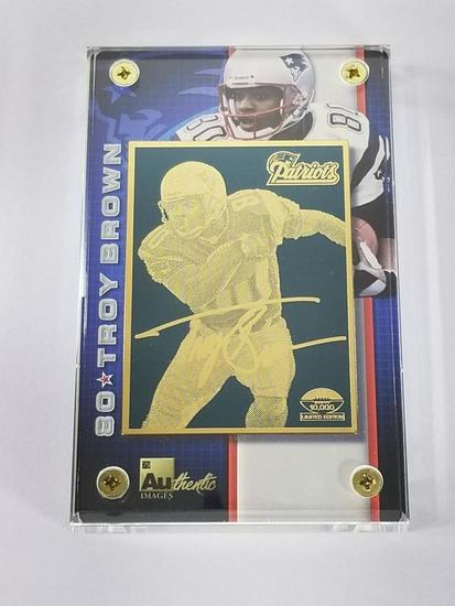 2002 NFL 24K Gold Metal Collectible Troy Brown Limited Edition