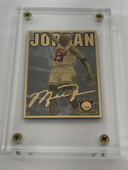 2017 NBA Michael Jordan-Dunking 24K Gold, Silver & Color Limited Edition Card Production PROOF