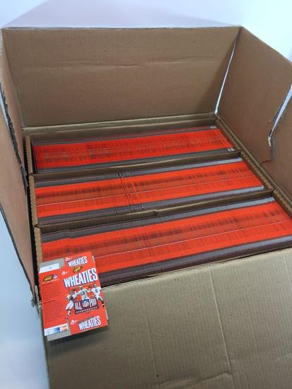Master Carton of 1200 Collectible 75th Ann MINI Wheaties Flats Boxes- HOF QBs Elway, Marino & Aikman