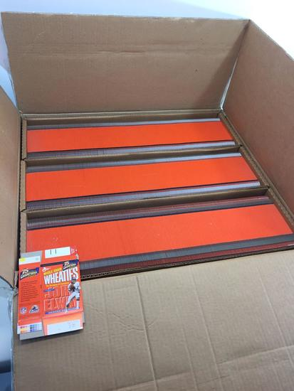 Master Carton of 1200 Collectible 75th Ann MINI Wheaties Flats Boxes - John Elway