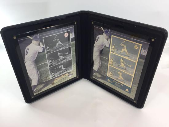 1998 MLB Mickey Mantle (1st Hit) MATCHING 24k Gold Metal & 24k Gold Signature Gallery Piece-LE #101