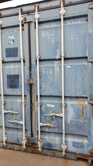 40' cargo shipping container 9ft 6in high Location: Back Lot To be removed last.