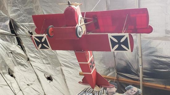 RC Biplane w/remote WWI replica model airplane fok D VII 7795/16 Location: Front Shop