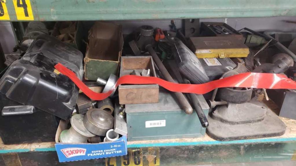 various tools 1/2 shelf Location: Rear Shop