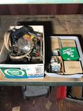 Box of Vintage Car Parts Box of Bolts Nuts Washers 2 Units Location Cargo Container