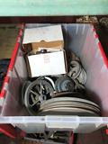 Crate of Vintage Car Parts Pullys 1940s Chevy Water Pump Location Cargo Container