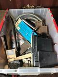 Crate of Vintage Car Parts Electrical Supplies Tools Location Cargo Container