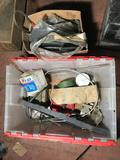 Crate of Vintage Car Parts Box of Weather Stripping Location Cargo Container