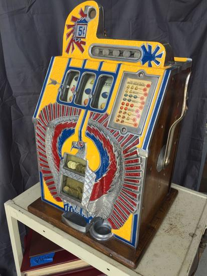 Mills Novelty Company 5 cent Slot Machine - Tested Working See Video