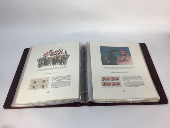 US Commemorative Stamp Collection 60 Page Album