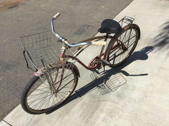 Vintage Western Flyer Bicycle - 44in Wheelbase - 26in Tire