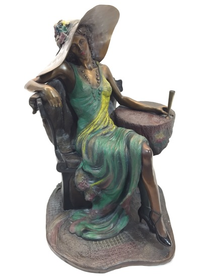 Bronze Sculpture - Corina by Isaac Maimon