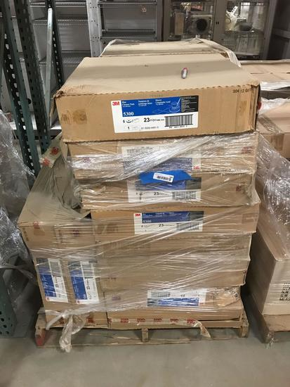 Pallet of Blue Cleaner Pads 3M 5300 23inch location Southside