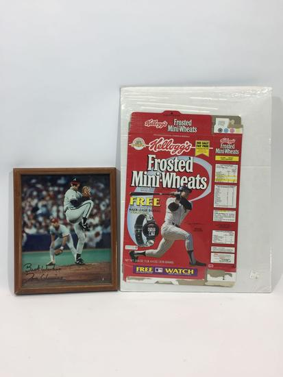 MLB Baseball Framed Picture and Kellogg?s Box