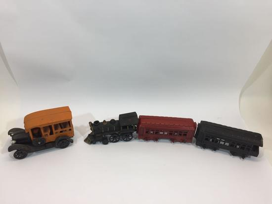 Vintage Cast Iron Train Car