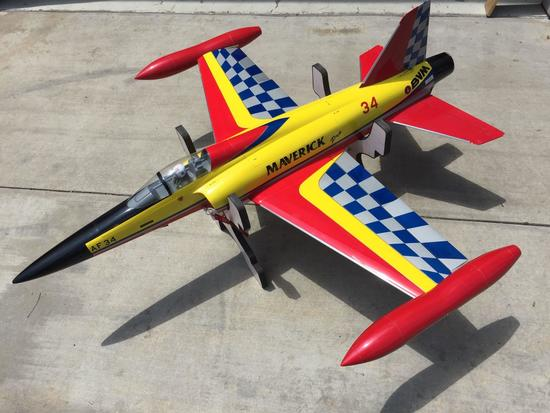 Maverick Pro AF 34 RC Jet 66in Long, 68in Wingspan No Engine Wings Removed