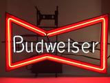 Budweiser Neon Sign Turns On 20in Tall 30in Wide 7in Deep