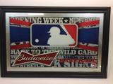 Framed Art Budweiser MLB Baseball 24x36in