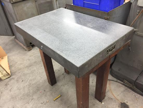 Pyramid Granite Company Machinest Surface Plate 3ft Tall