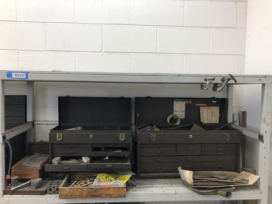 Machinist Toolboxes with tooling