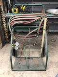 Welding Cart With Hose, Oxygen Regulator, Welding Tools