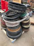 Pallet of Wheels, Rims, Tires