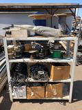 Rack with Car Hoses, Tubing, Belts, Weather Stripping, Miscellaneous