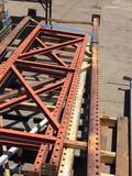 Assorted Pallet Racking Verticals longest is 15ft Tall