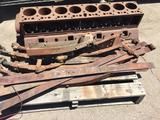 Pallet of Vintage and / or antique Car Parts, Engine Block