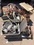 Pallet of rusty gold - Car Engine Components hoses motor
