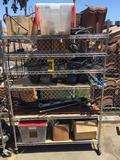 Rolling Metro Shelf Rack with wire Vintage and / or antique Car Parts