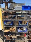 Shelving Rack with Miscellaneous Car Parts electronics romex etc