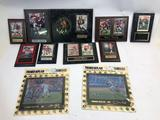 San Francisco 49ers Steve Young and Jerry Rice Plaques and Memorabilia