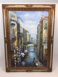 Framed Canvas Painting 43x31in