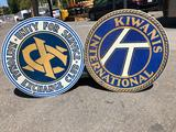 Kiwanis International & Unity for Service ? National Exchange Club Signs