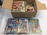 Box of dozens of Comic Books, DC, Marvel, Spider-Man, Superman, etc