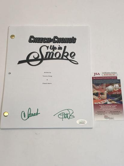 Signed Cheech and Chong Up in Smoke Movie Script