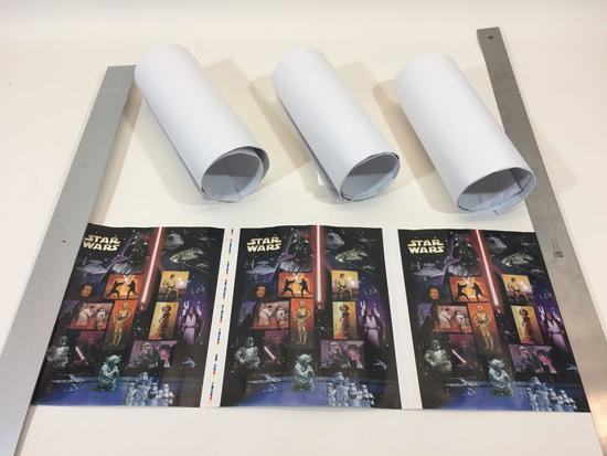 Lot of 4 Rolls of Star Wars US Stamp Sheets, Each Roll has 45 x $0.41 Cent Stamps