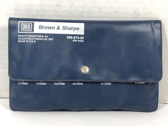 Brown and Sharpe Adjustable Parallel Set 599-673-20