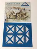 2 The Settlement of Jamestown US Stamp Sheets, Each Sheet has 20 x $0.41 Cent Stamps