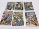 Lot of 6 Vintage Comic Books, DC & Marvel