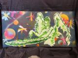 Unique Spray Painted Galactic Art 2 ft tall 4 ft wide
