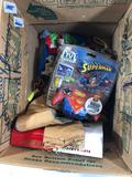 Lot of Misc, Cigar Box, Superman Video Game, Yoda String Lights