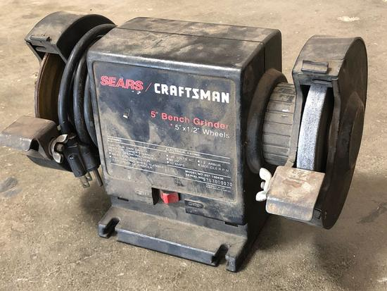 Sears / Craftsman 5 inch Bench Grinder