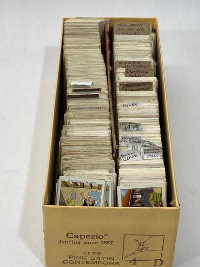 Box of Vintage Cigarette Cards