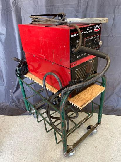 Century Quick-Fix Wire Feed Welder with Cart