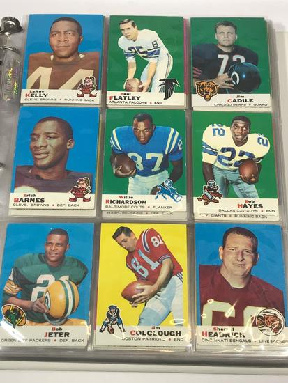 1-263 Complete Set of Topps 1969 NFL Football Cards In Binder