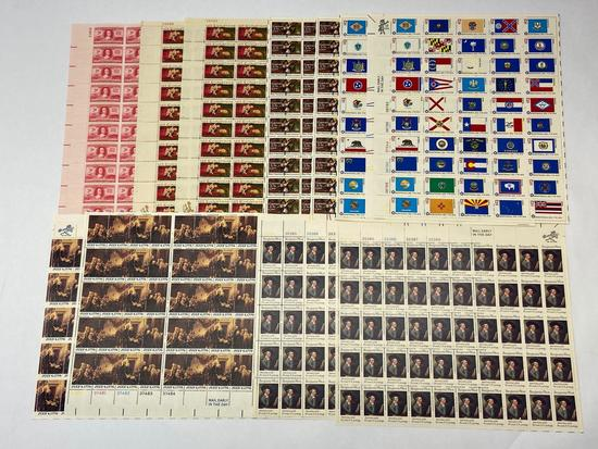 Lot of 11 U.S. Stamp Sheets