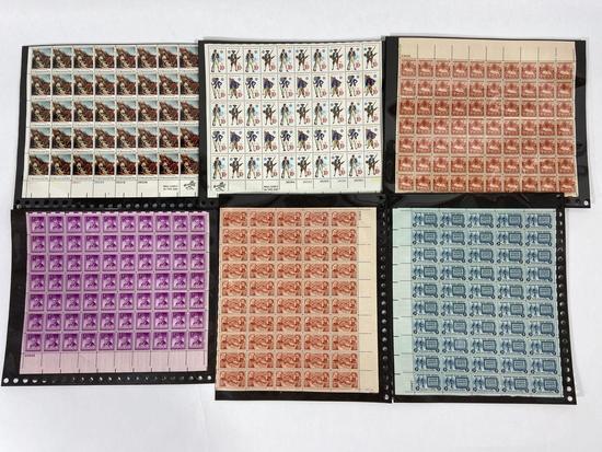 Lot of 12 U.S. Stamp Sheets